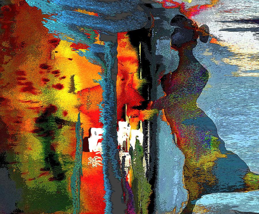 Fantasy Painting - Secret Date by Miki De Goodaboom