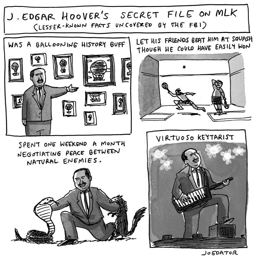 Secret Fbi File On Mlk Drawing by Joe Dator
