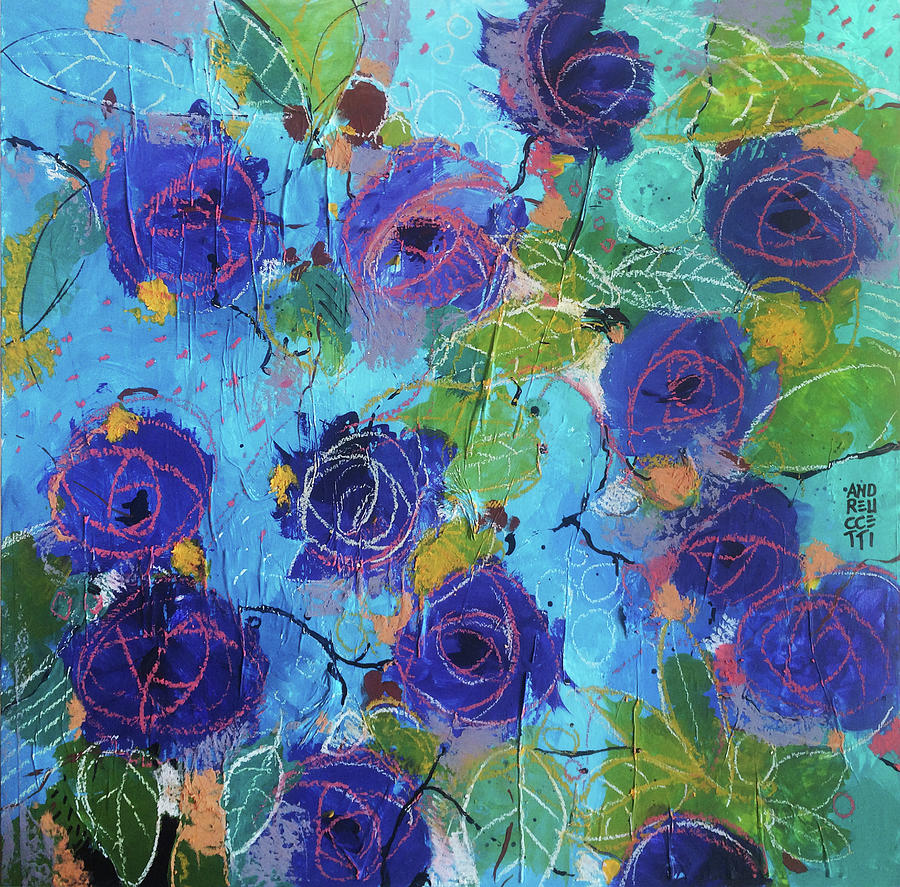 Roses Painting - Secret garden by Alessandro Andreuccetti