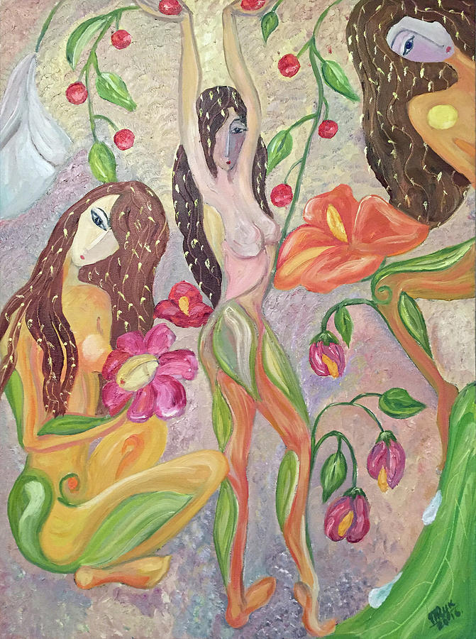 Figurative Painting - Secret Garden  by Mila Ryk