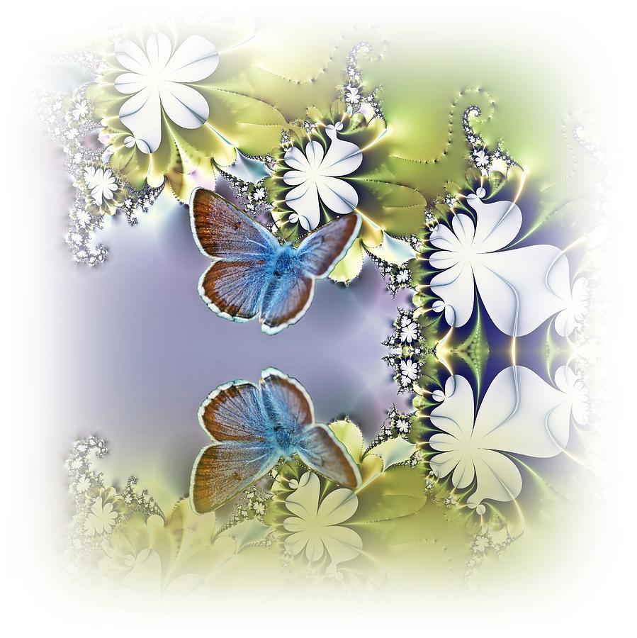 Floral Digital Art - Secret Garden by Sharon Lisa Clarke