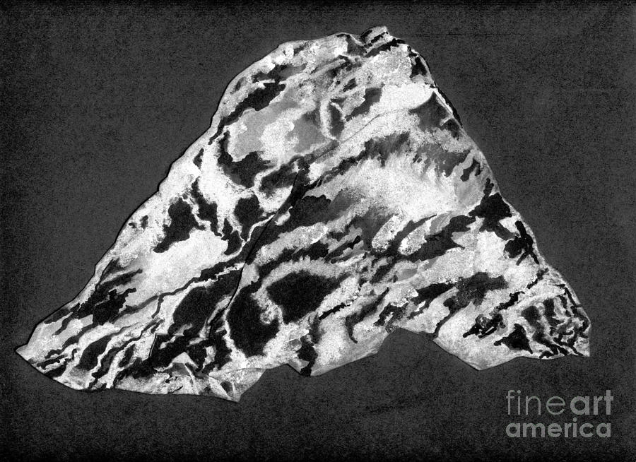 Ink Drawing - Secret Mountain by Mary Zimmerman