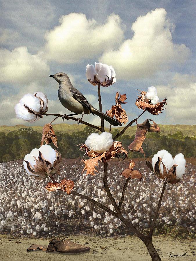 Bird Digital Art - Secret Of The Mockingbird by M Spadecaller