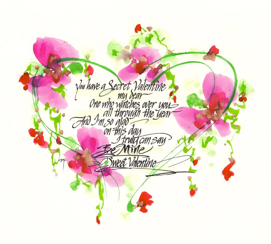 Secret Valentine Drawing By Darlene Flood