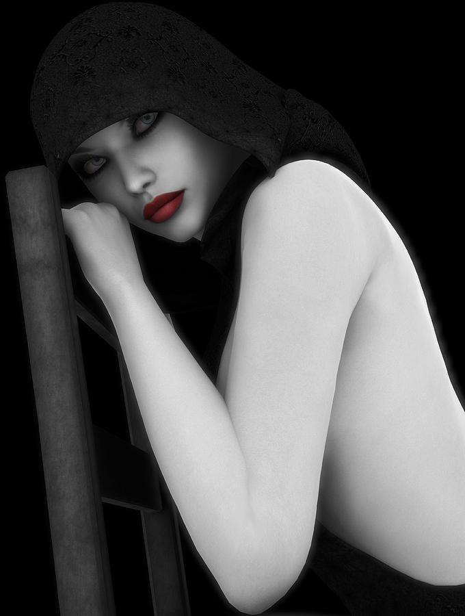 Sexy Digital Art - Secretive Lust by Alexander Butler