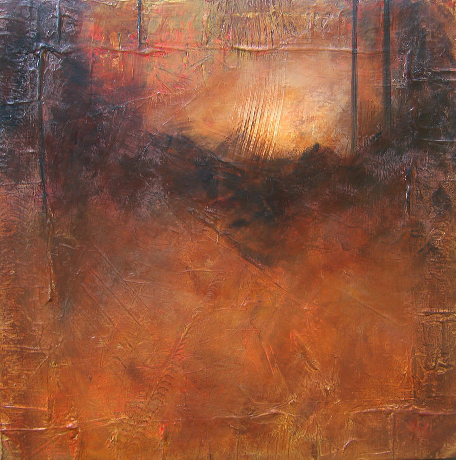 Abstract Painting - Secrets by Carrie Allbritton