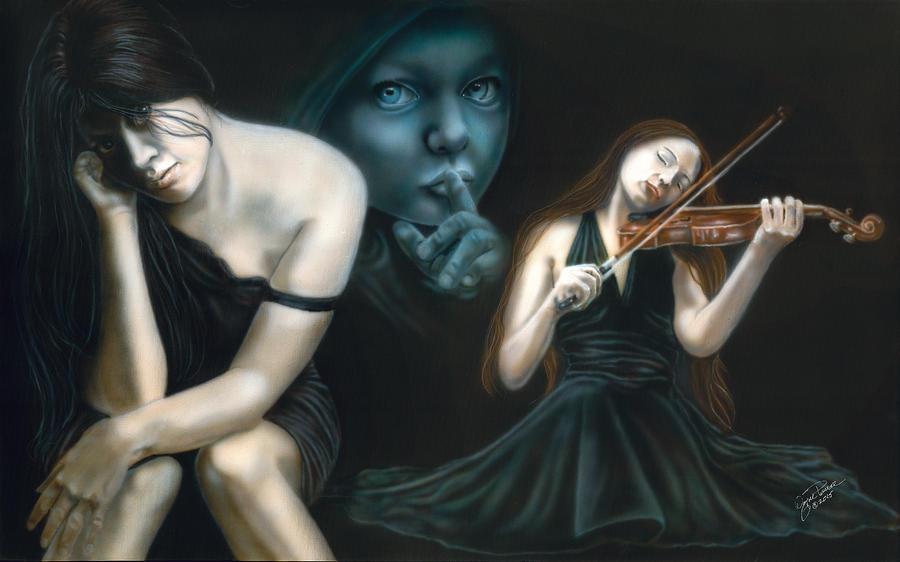 Females Painting - Secrets Make You Sick by Wayne Pruse