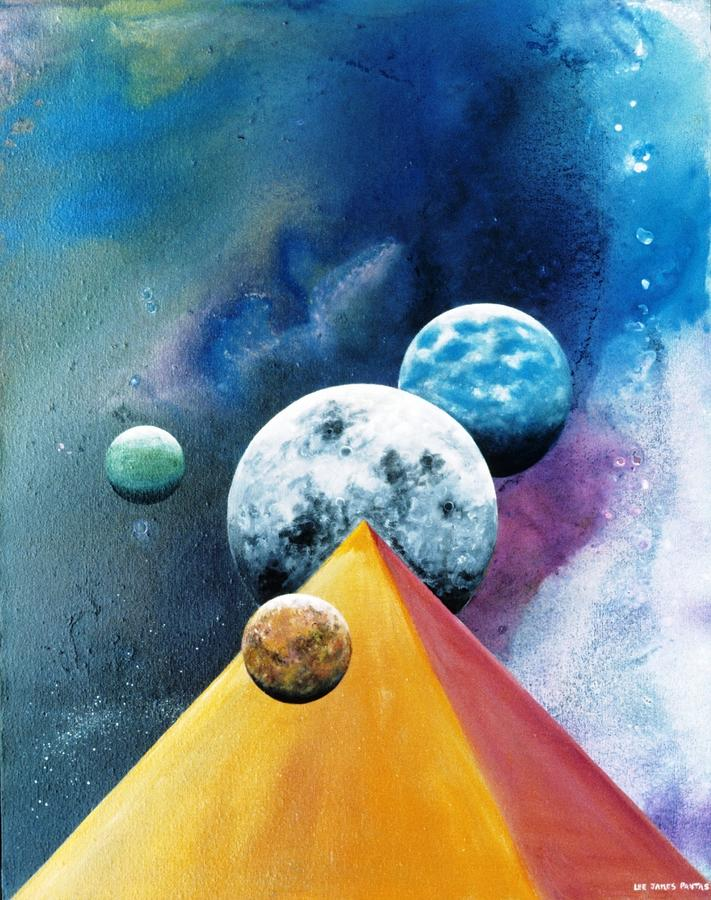 Spiritual Painting - Secrets Of The Nile -luna by Lee Pantas