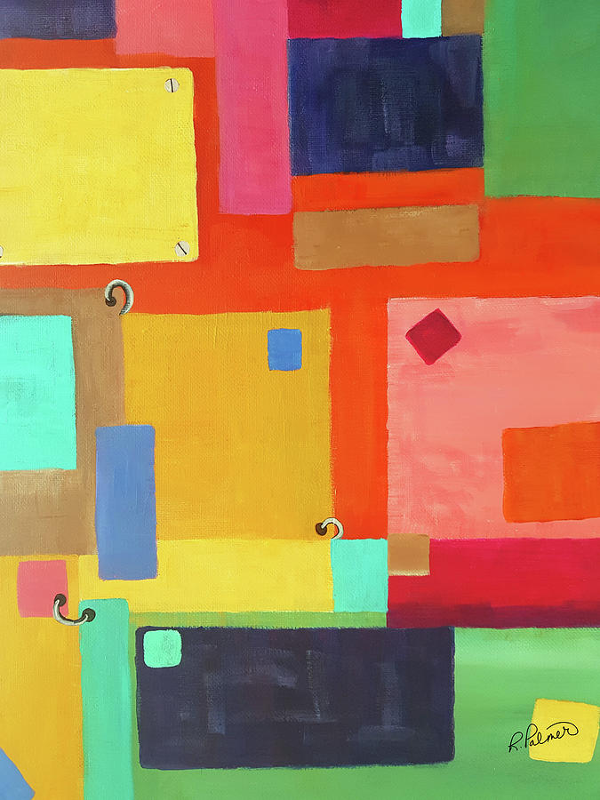 Geometric Painting - Secured by Ruth Palmer