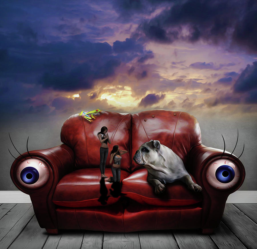 Sedentary Lifestyle: Sedentary Lifestyle Painting By Surreal Photomanipulation