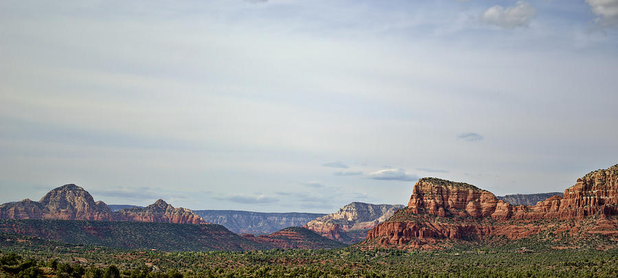 Sedona Arizona Panorama I by Dave Gordon