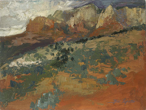 Plein Air Painting Painting - Sedona Az  Break In The Storm by Betty Jean Billups