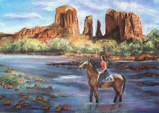 Southwestern Landscape Painting - Sedona Beauty by Darla Joy  Johnson