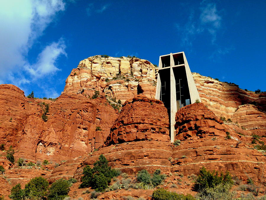 Chapel Photograph - Sedona Chapel Of The Holy Cross by Cindy Wright