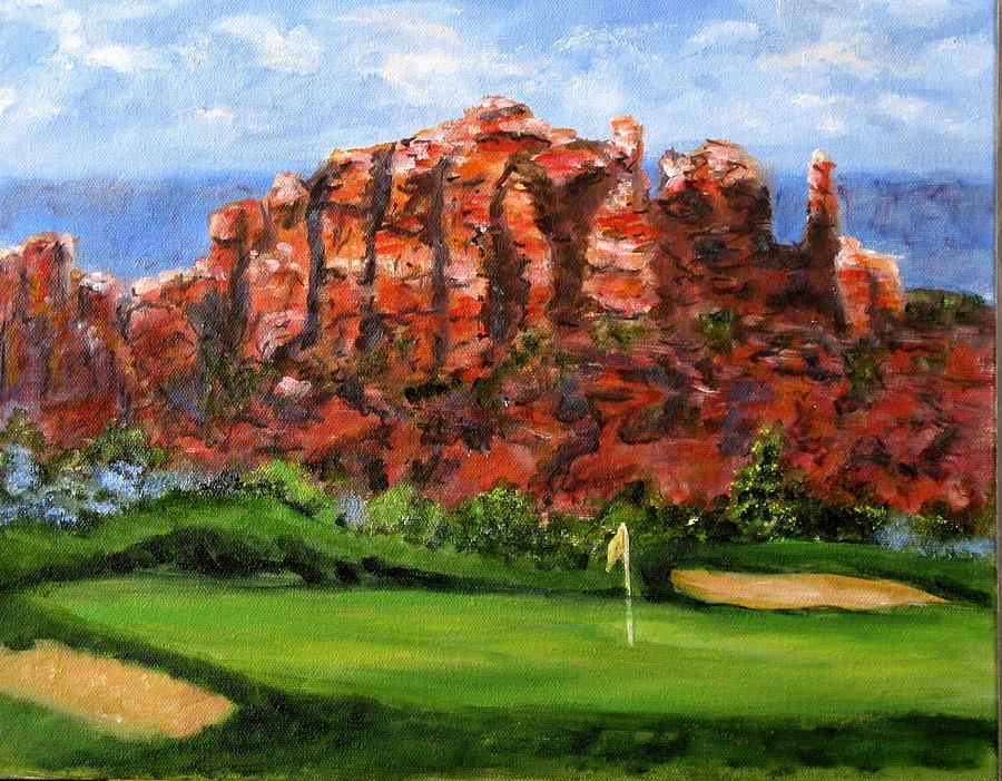 Arizona Painting - Sedona Golf by Thomas Restifo