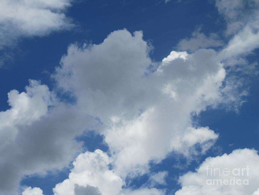 Heart Photograph - Sedona Heart Cloud by Marlene Rose Besso
