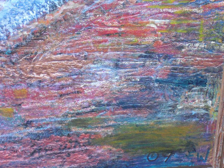 Mesa Mixed Media - Sedona Mesa Strata  by Anne-Elizabeth Whiteway