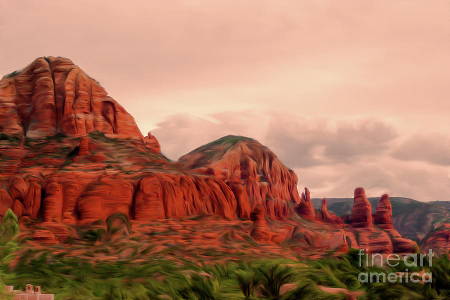 Sedona Mountains Painting by Chandra Nyleen