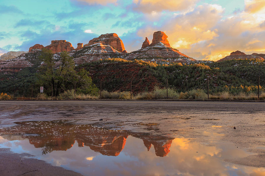Rock Photograph - Sedona Reflections by Robert Aycock