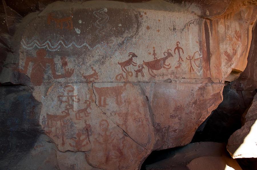 Sedona Rock Art Panel Photograph by David Sunfellow