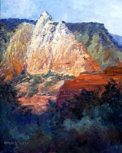 Sedona Painting - Sedona Sentinal by Donald Neff
