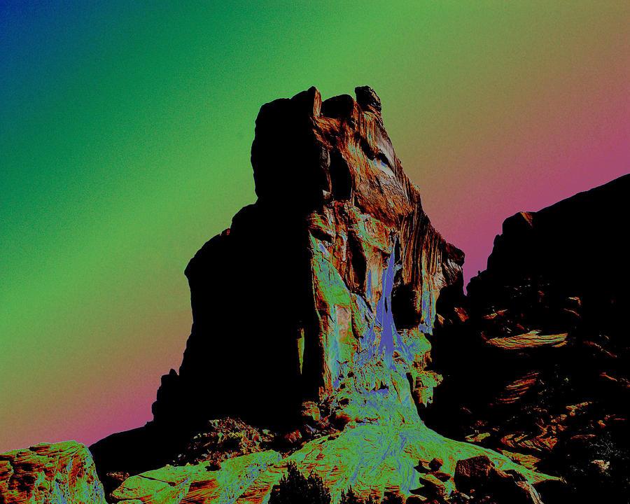 Sedona Photograph - Sedona Solarized by Barry Shaffer