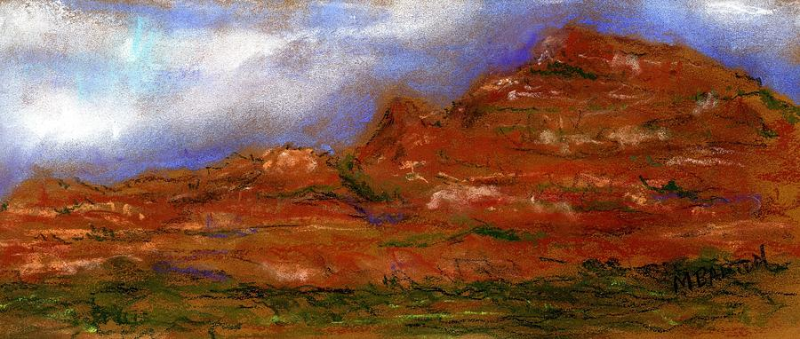 Landscape Painting - Sedona Storm Clouds by Marilyn Barton