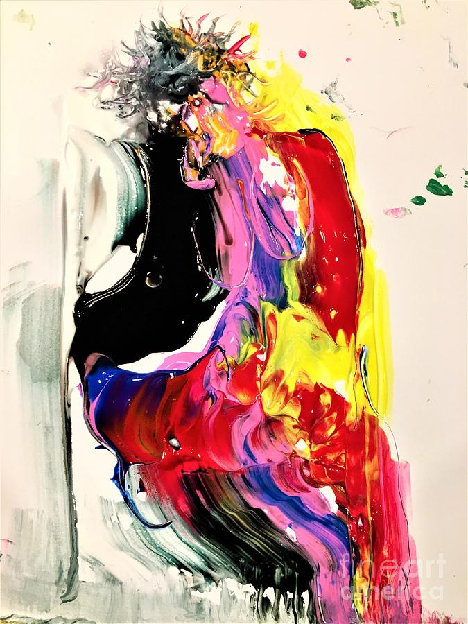 Abstract Painting - Seductress Of Milan by Dr Ernest Williamson III