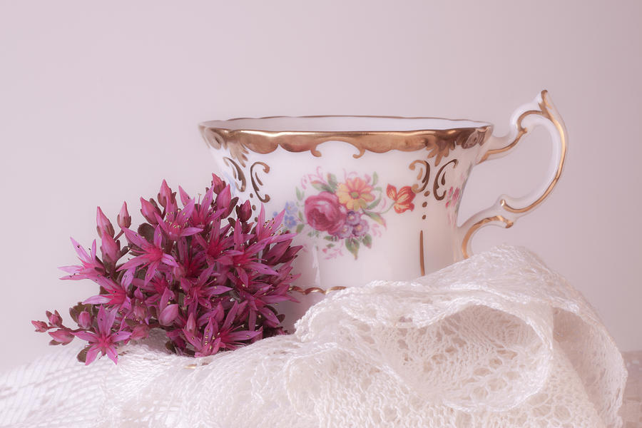 Sedum Photograph - Sedum Flower Still Life by Sandra Foster