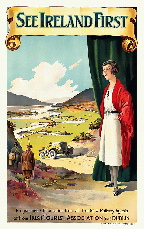 See Ireland First - Restored by Vintage Advertising Posters