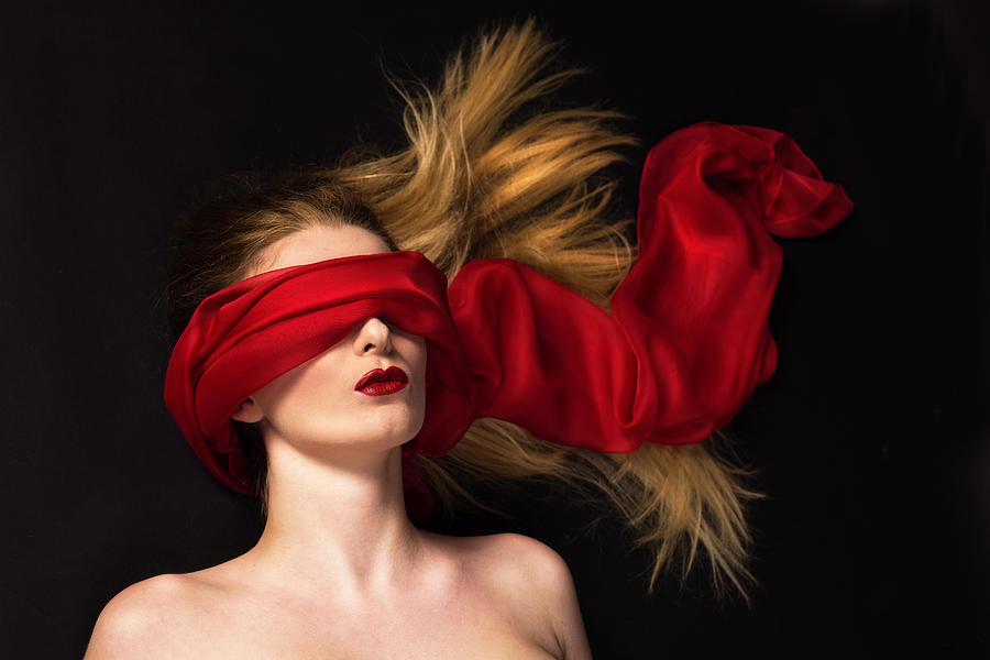 Red Photograph - See No Evil by Debra Jayne