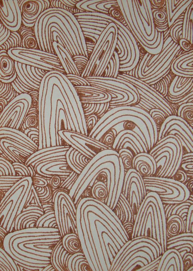 Brown Drawing - See Study Fifteen by Ana Villaronga