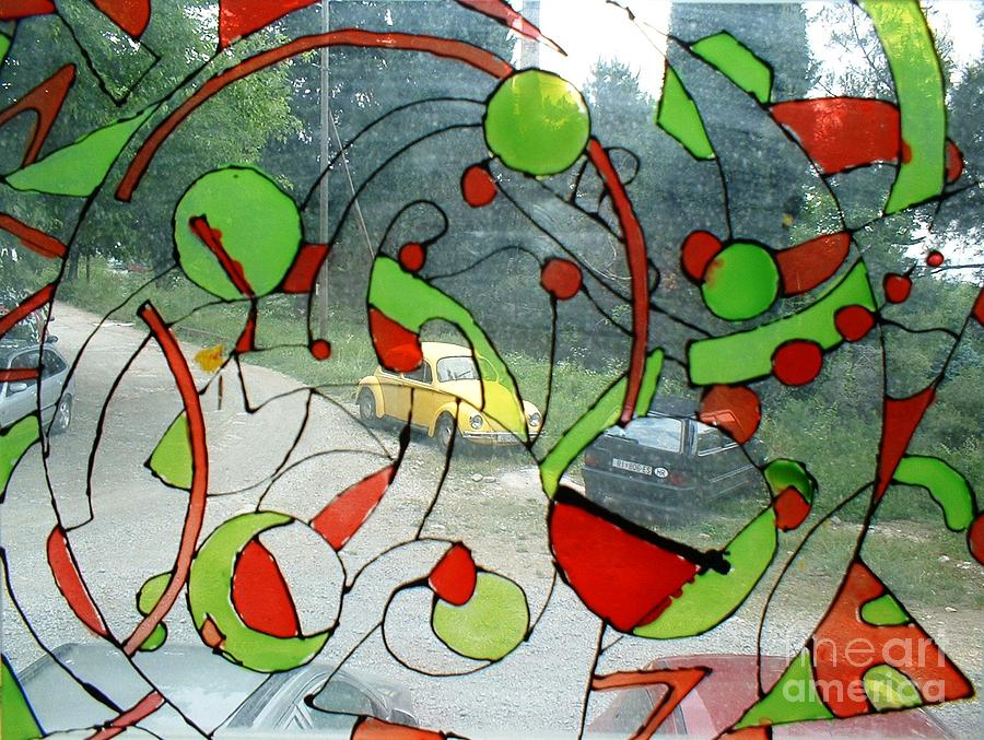 Abstract Glass Art - See The World Through My Eyes by Nyna Niny