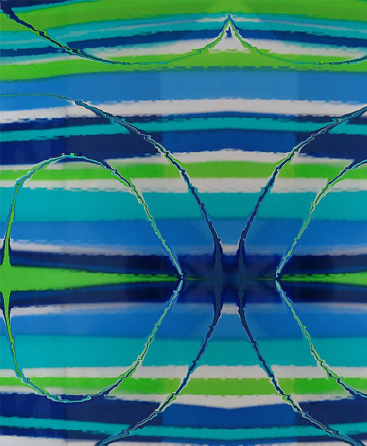 Abstract Painting - See Thru Blue by Florene Welebny