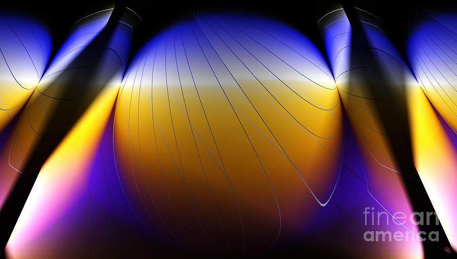 Abstract Digital Art - See Thru Shapes by Ron Bissett