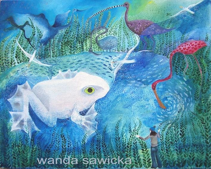 Pond Painting - see by Wanda Sawicka