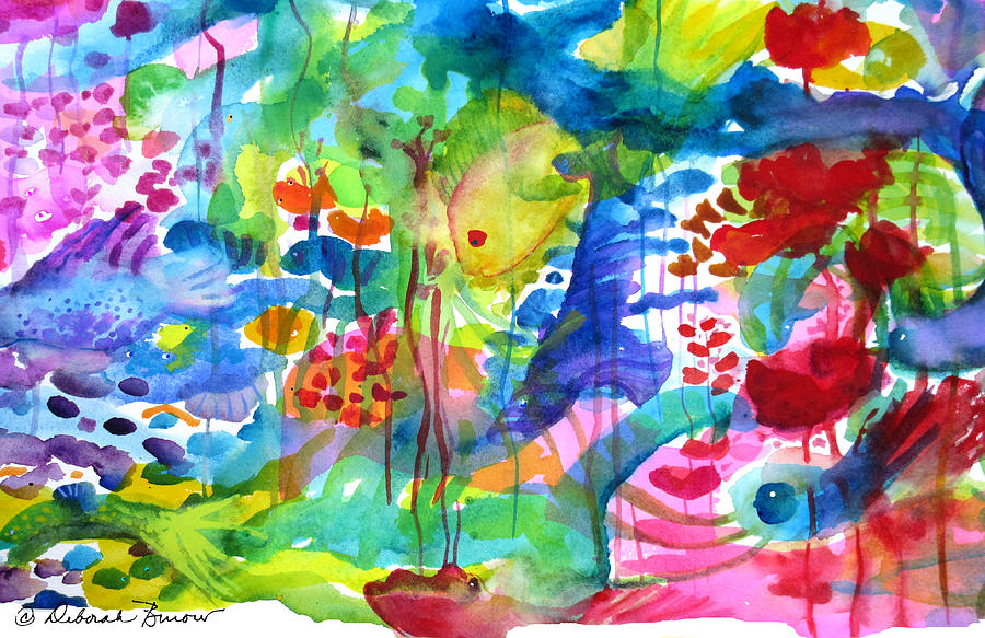 Tropical Fish Painting - See You In The Deep End by Deborah Burow