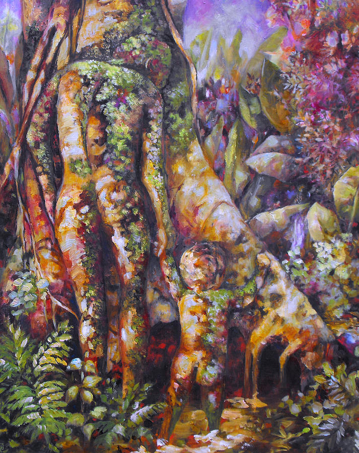 Magical Realism Painting - Seed Pod by Monica Linville