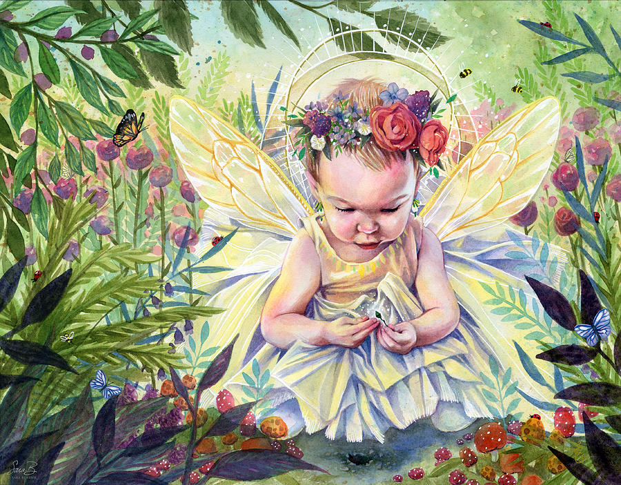 Child Painting - Seedling by Sara Burrier