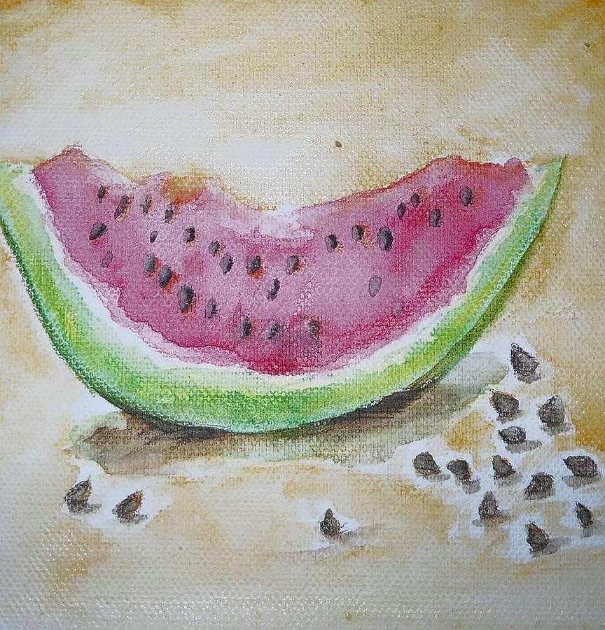 Water Painting - Seeds by Anne Seay