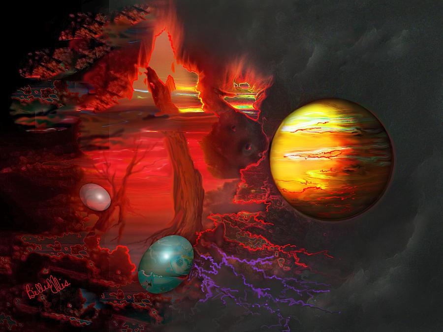 Universe Digital Art - Seeds of the Universe by Billie Jo Ellis