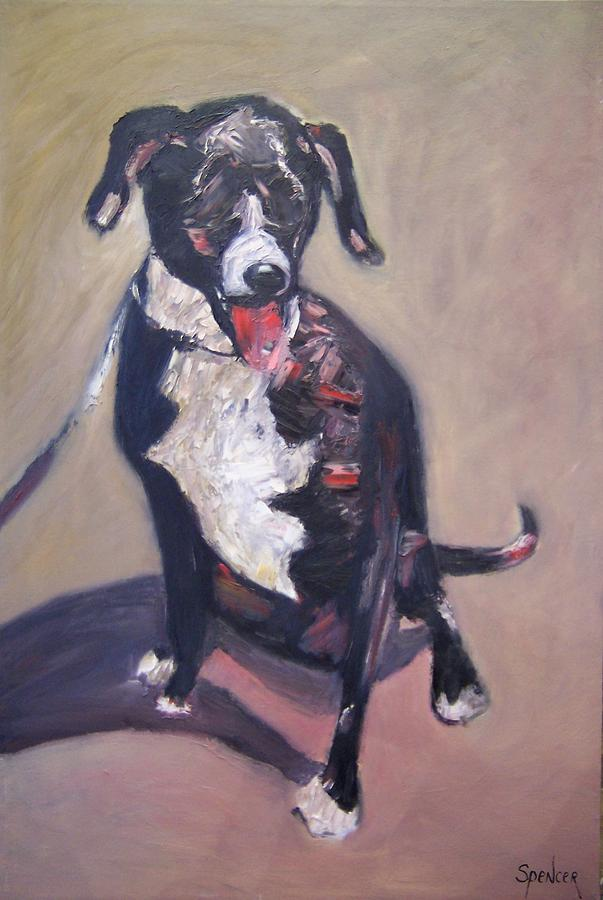 Dogs Painting - Seeing Eye Dog by Scott Spencer