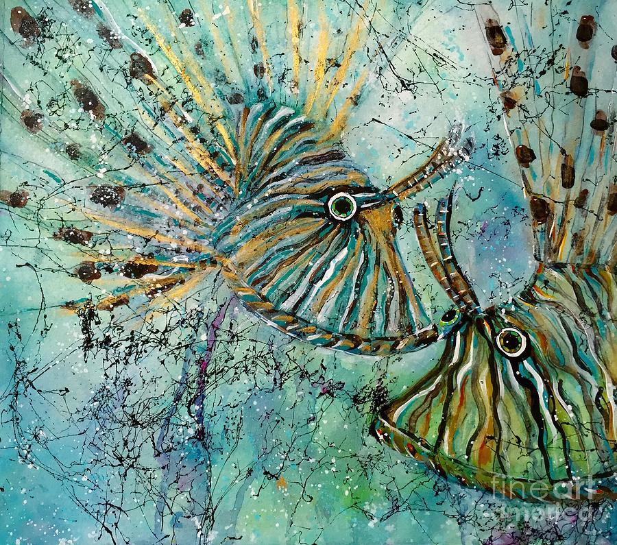 Coastal Painting - Seeing Eye To Eye by Midge Pippel