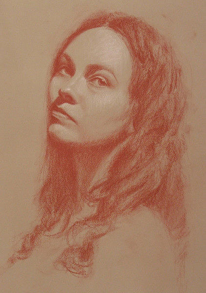 Portrait Drawing - Seeing by Jessica Collins