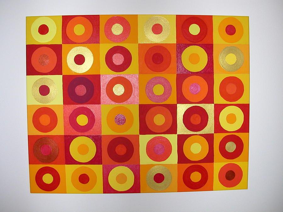 Orange Painting - Seeing Red by Gay Dallek