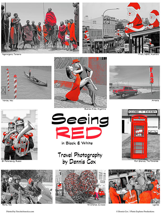 Seeing Red In Bw Photograph