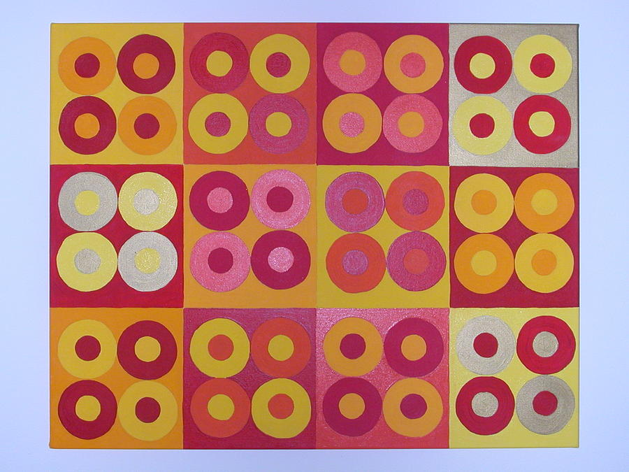Squares Painting - Seeing Red Squared by Gay Dallek