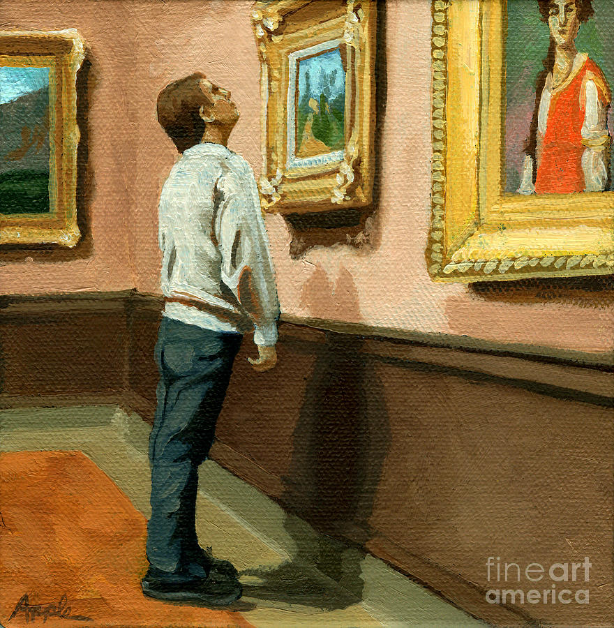 Man Painting - Seeing The Details by Linda Apple