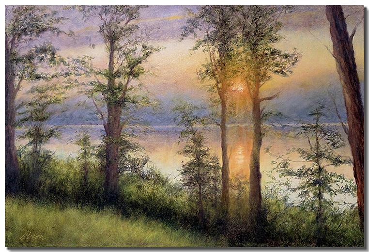 Water Painting - Seeing the Light VIII by Liron Sissman
