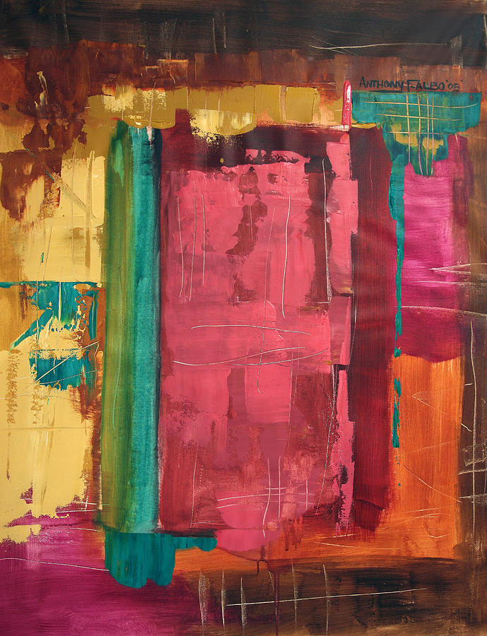 Abstract Framed Prints Painting - Seek And You Shall Find by Anthony Falbo